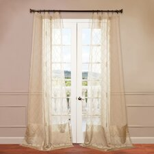 Palazzo Banded Sheer Curtain Single Panel