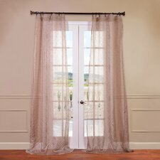 Zara Patterned Sheer Curtain Single Panel
