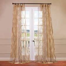 Alegra Embroidered Sheer Curtain Single Panel