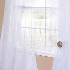 Faux Organza Sheer Curtain Panel Pair