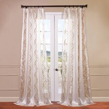Camille Embroidered Sheer Curtain Single Panel
