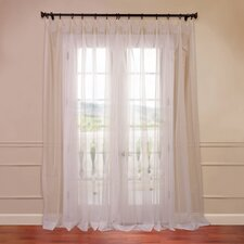 Doublewide Solid Voile Sheer Curtain Single Panel