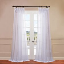 Signature Double Layered Sheer Curtain Single Panel