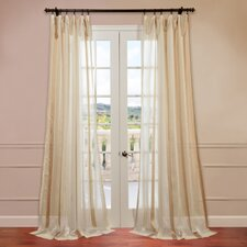 Carlton Jacquard Stripe Sheer Curtain Single Panel