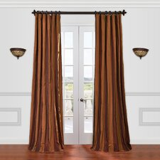 <strong>Half Price Drapes</strong> Milazzo Faux Silk Taffeta Stripe Curtain Single Panel