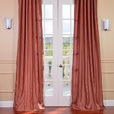 <strong>Half Price Drapes</strong> Vintage Textured Faux Dupioni Rod Pocket Curtain Single Panel