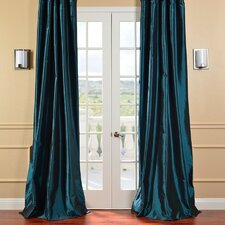 Faux Solid Taffeta Curtain Single Panel