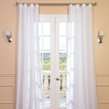 Signature Lace French Linen Pleated Curtain Single Panel