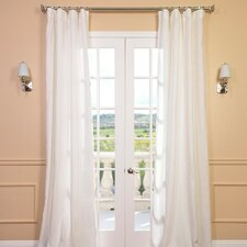 <strong>Half Price Drapes</strong> Signature Lace French Linen Pleated Curtain Single Panel
