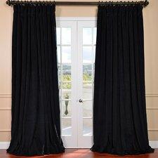 Signature Double Wide Velvet Rod Pocket  Curtain Panel