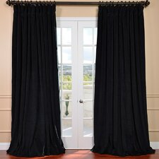 Signature Double Wide Velvet Rod Pocket  Curtain Single Panel