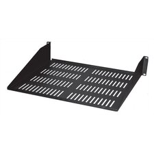 "10.5""-18""D Single-Sided Vented Shelf - 2 RU"