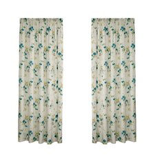 Cherry Blossom Pencil Pleat Curtain