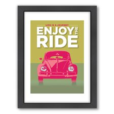 <strong>Americanflat</strong> Enjoy The Ride VW Bug Wall Art