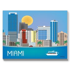 Miami Graphic Art on Canvas