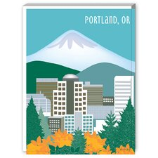Portland Graphic Art on Canvas