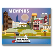 Memphis Graphic Art on Canvas