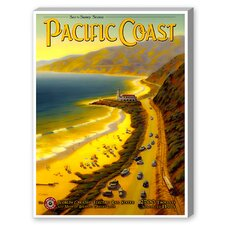 Pacific Coast Vintage Advertisement Graphic Art