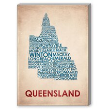 Queensland Textual Art on Canvas