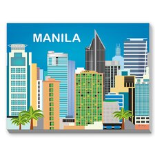 Manila Graphic Art on Canvas