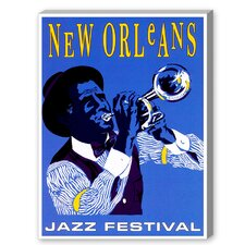 New Orleans Jazz Festival Graphic Art on Canvas