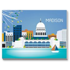 Madison Graphic Art on Canvas