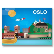 Oslo Graphic Art on Canvas