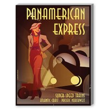 Panamerican Express Vintage Advertisement on Canvas