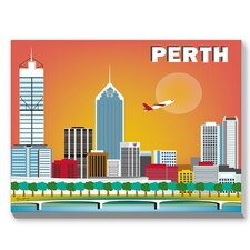 Perth Graphic Art on Canvas