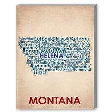 Montana Textual Art on Canvas
