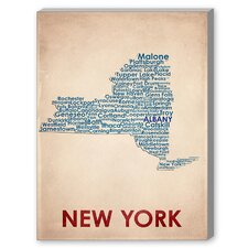 New York Poster Textual Art on Canvas