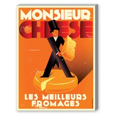 Monsieur Cheese Vintage Advertisement on Canvas