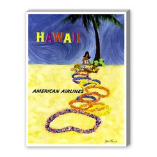 Hawaii Graphic Art on Canvas