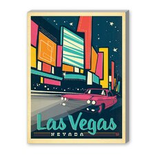 Las Vegas: Modern Print Vintage Advertisement on Canvas