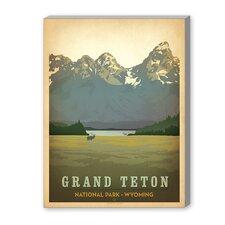 Grand Teton National Park Vintage Advertisement on Canvas