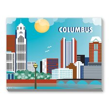 Columbus Graphic Art on Canvas