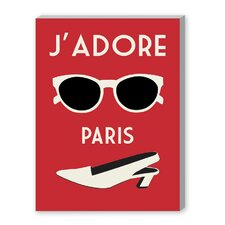 J'Adore Paris, Rouge Graphic Art on Canvas