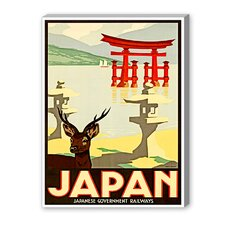 Japan Graphic Art on Canvas