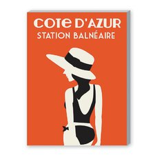 Cote D'Azure, Station Balneaire Graphic Art on Canvas