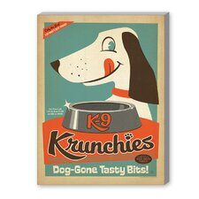 K9 Krunchies Vintage Advertisement on Canvas