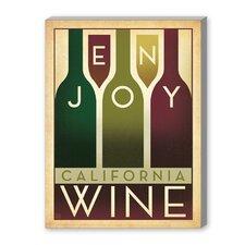 Enjoy Wine Vintage Advertisement on Canvas