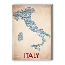 Italy Textual Art on Canvas