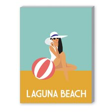 Laguna Beach Vintage Advertisement on Canvas