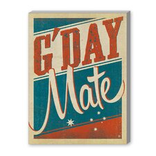 G'Day Mate Graphic Art on Canvas