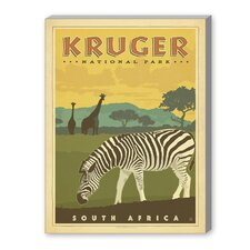 Kruger National Park Vintage Advertisement on Canvas