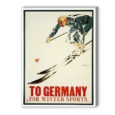 Germany Winter Sports Vintage Advertisement on Canvas