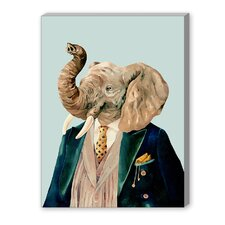 Elephant Graphic Art on Canvas