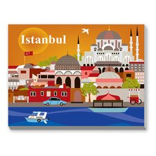Istanbul Graphic Art on Canvas