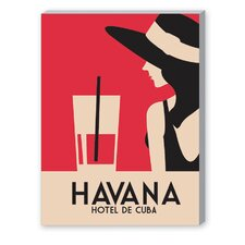 Havana, Hotel de Cuba Vintage Advertisement on Canvas