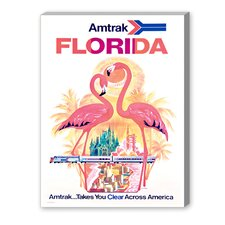 Florida Amtrak Vintage Advertisement on Canvas
